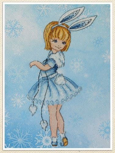 Bunny cross stitch chart by Artmishka Cross Stitch